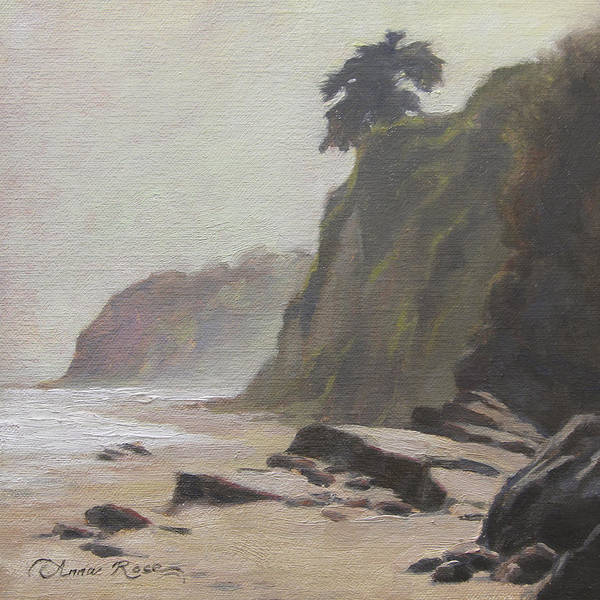 California Landscape Painting - Shoreline Atmosphere Santa Barbara by Anna Rose Bain