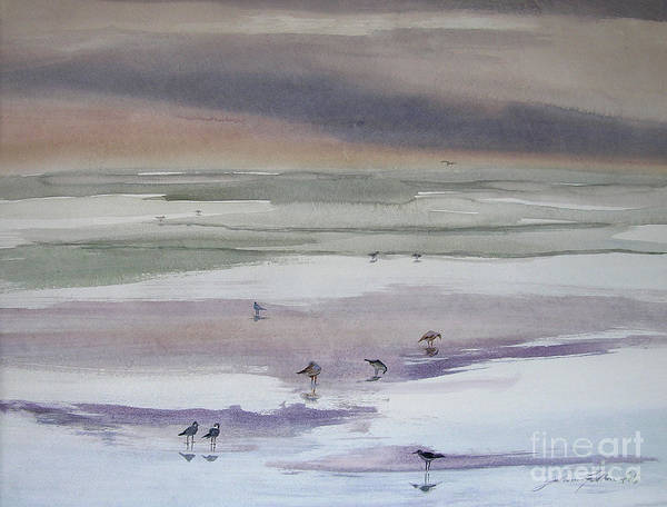 Painting - Shoreline Birds II by Julianne Felton