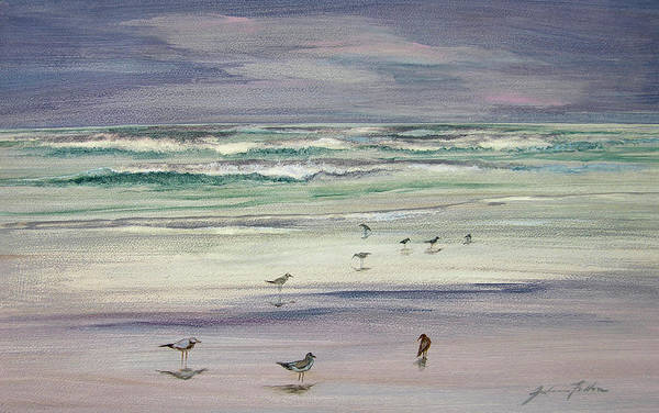 Painting - Shoreline Birds IIi by Julianne Felton