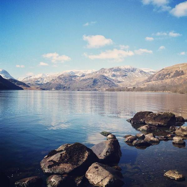 Ullswater Photograph - Shoreline Of Ullswater, Lake District by Verity E. Milligan