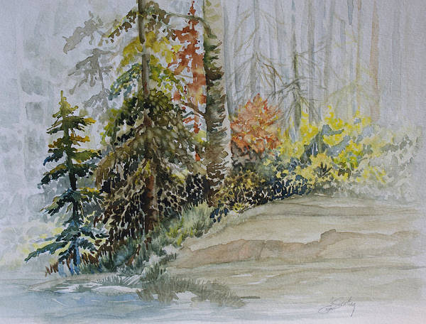 Painting - Shoreline Sketch by Joanne Smoley