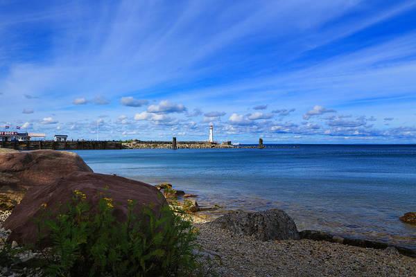Photograph - Shores Of St. Ignace by Rachel Cohen