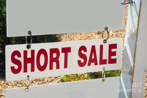 Photograph - Short Sale Sign by Gunter Nezhoda