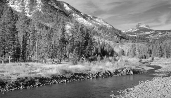 Wall Art - Photograph - Shoshone River In Black And White by Twenty Two North Photography