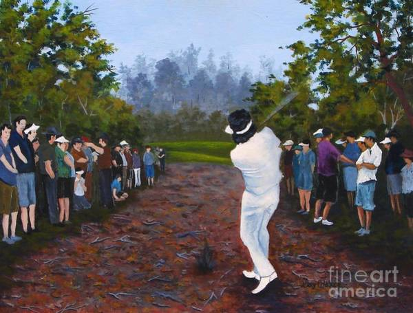 Augusta Masters Painting - Shot Heard Around The World by Jerry Walker