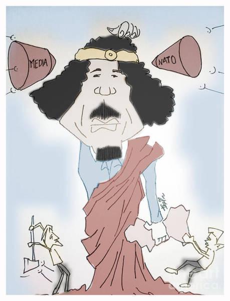 Caricature Mixed Media - Shot  by Razi P