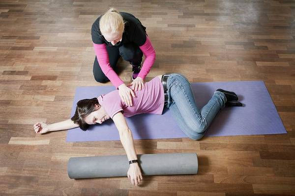 Therapy Photograph - Shoulder And Back Physiotherapy by Thomas Fredberg