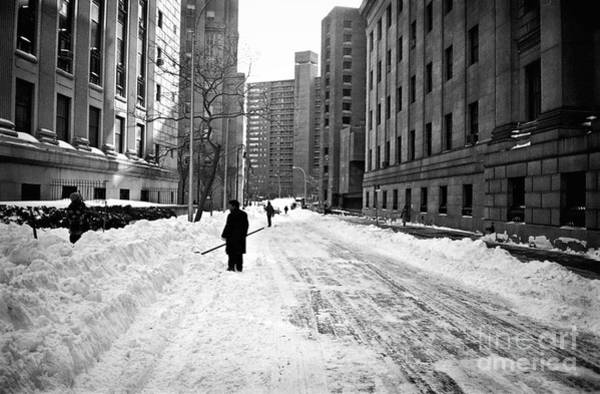 Photograph - Shoveling Out 1990s by John Rizzuto