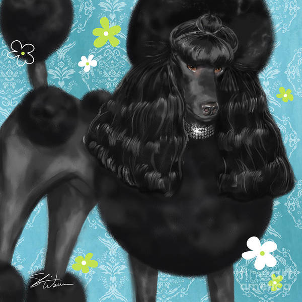 Mixed Media - Show Dog Poodle by Shari Warren