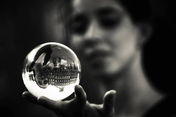 Eye Ball Photograph - Show Me My Future. Amsterdam by Jenny Rainbow