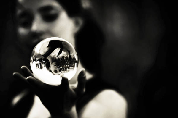 Eye Ball Photograph - Show Me My Future. Amsterdam Street Performance by Jenny Rainbow