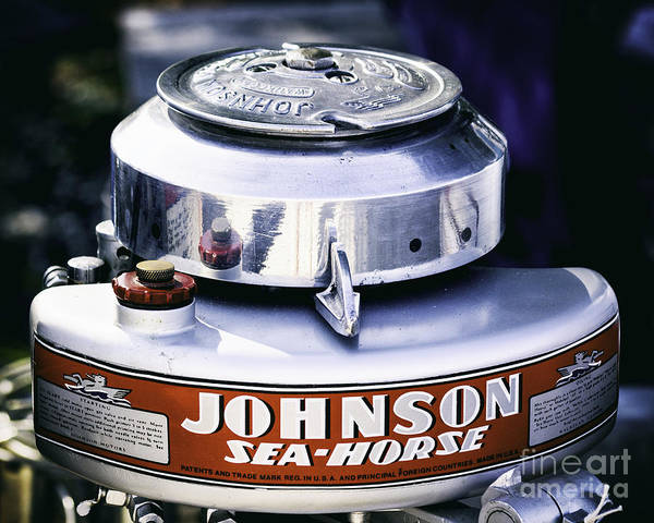 Outboard Engine Photograph - Show Room Condition by Joe Geraci