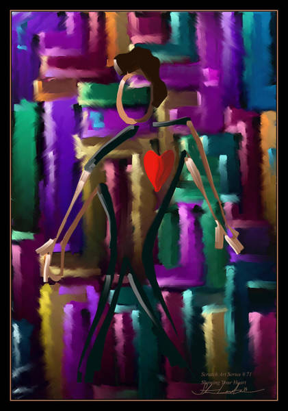 Wall Art - Painting - Showing Your Heart - Scratch Art Series - #71 by Steven Lebron Langston