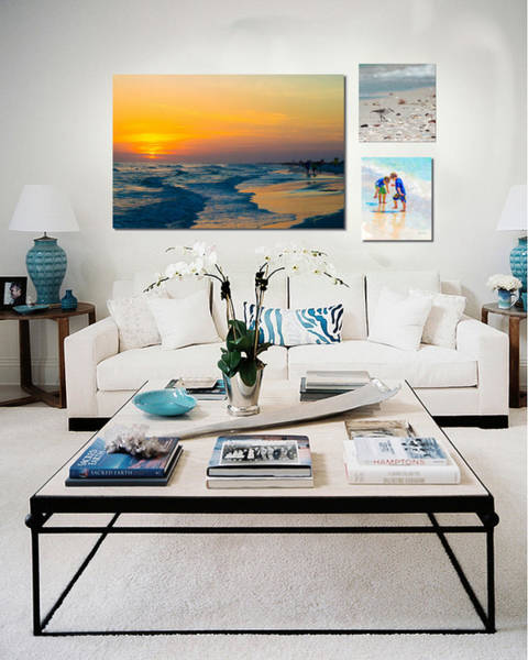 Digital Art - Shown Hung On Wall - Beach Day Combo by Susan Molnar