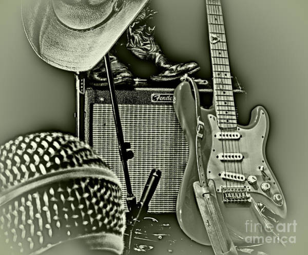 Strat Photograph - Show's Over - B W by Robert Frederick