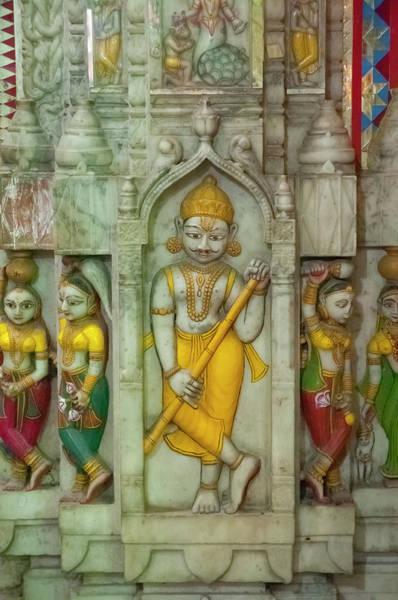 Shree Wall Art - Photograph - Shree Laxmi Narihan Ji Hindu Temple by Inger Hogstrom
