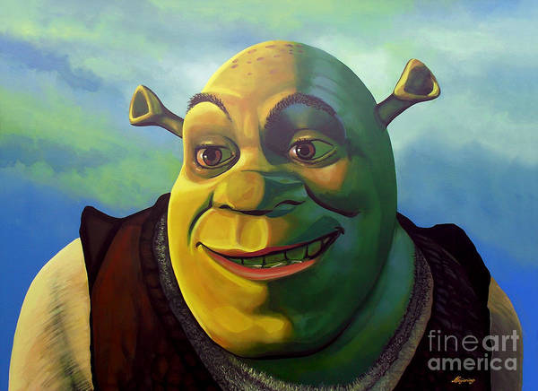 Animation Wall Art - Painting - Shrek by Paul Meijering