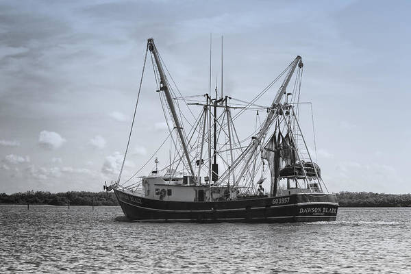 Photograph - Shrimp Boat - Matanzas Pass by Kim Hojnacki