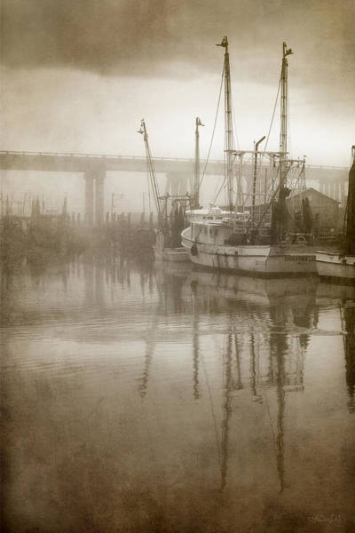 Photograph - Shrimp Boats In The Fog by Renee Sullivan