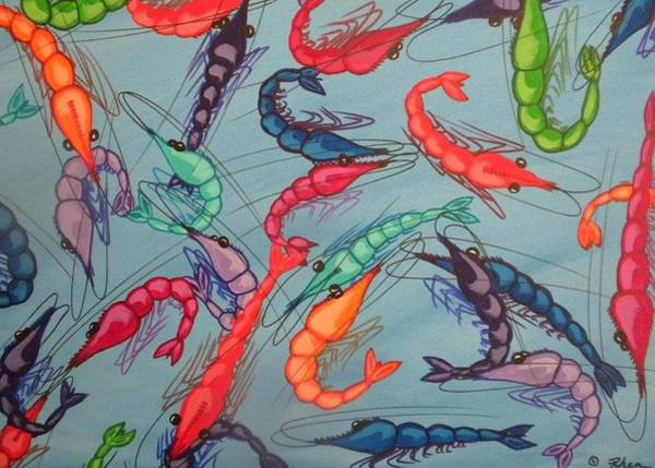 Rhea Painting - Shrimp Party by Rhea Witthoft