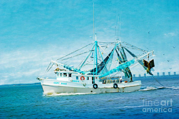 Shrimp Boat Wall Art - Photograph - Shrimp Trawler by Laura D Young