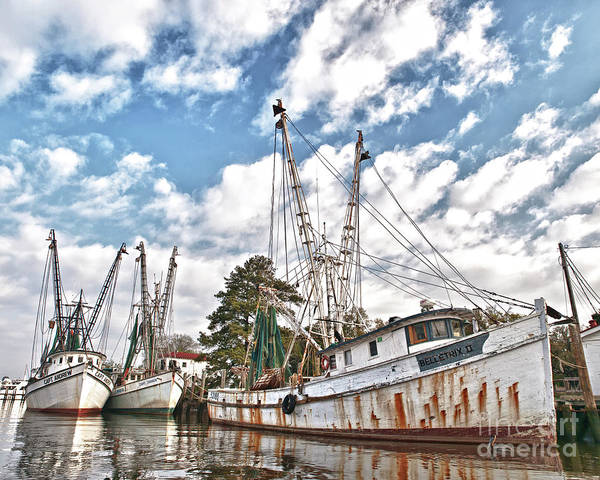Photograph - Shrimpers At Rest by Mike Covington