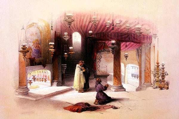 Bethlehem Photograph - Shrine Of The Nativity Bethlehem April 6th 1839 by Munir Alawi