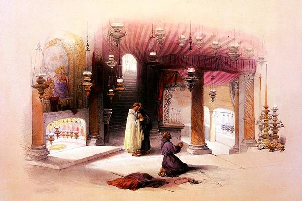 Holy Land Photograph - Shrine Of The Nativity Bethlehem April 6th 1839 by Munir Alawi