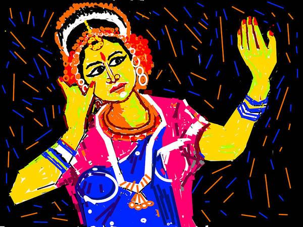 Merge Digital Art - Shringara Rasa by Anand Swaroop Manchiraju