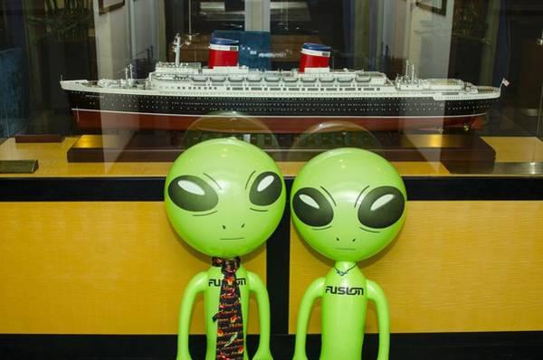 Photograph - Shrunken Ship Aliens by Richard Henne
