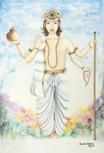 Indian God Painting - Shukra Venus by Srishti Wilhelm