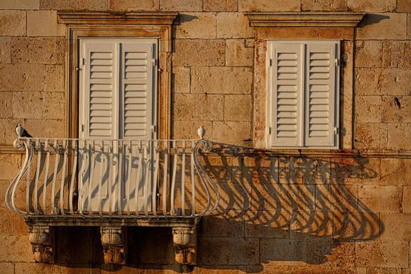 Hvar Wall Art - Photograph - Shutters And Shadows - Hvar Croatia by Stuart Litoff