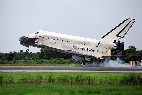 Space Shuttle Photograph - Shuttle Mission Sts-121 Landing by Nasa/science Photo Library