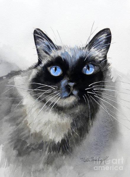 Painting - Siamese Cat by Hilda Vandergriff