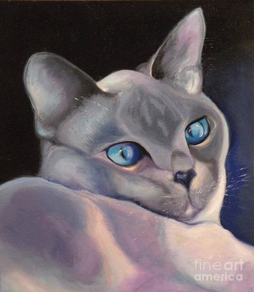 Painting - Siamese In Blue by Susan A Becker