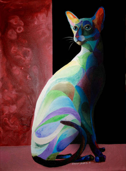 Painting - Siamese Shadow 2 by Sherry Shipley