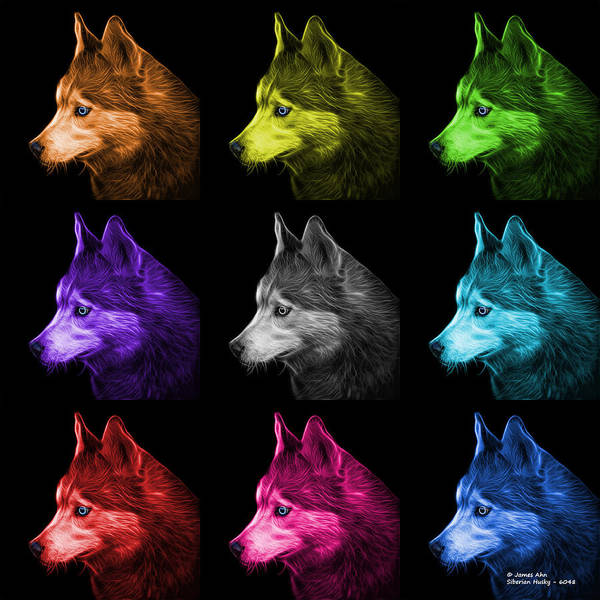 Painting - Siberian Husky Art - 6048 - Bb - M by James Ahn