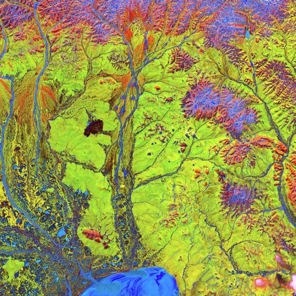 River Delta Photograph - Siberian Rivers And Arctic Delta by Us Geological Survey/science Photo Library
