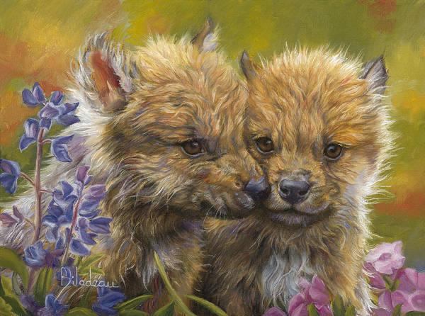 Painting - Siblings by Lucie Bilodeau