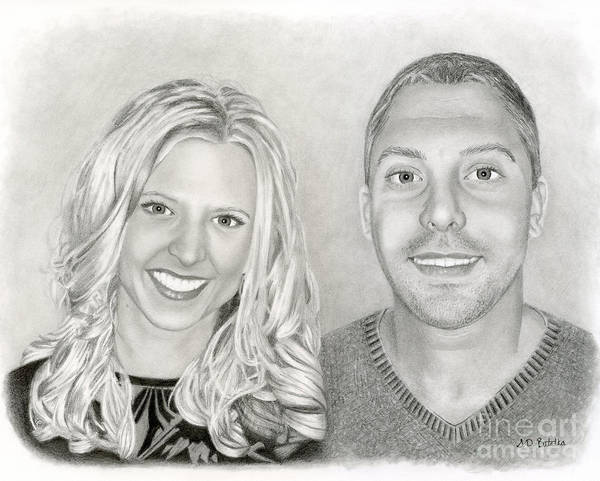 Hand Drawn Drawing - Siblings by Sarah Batalka