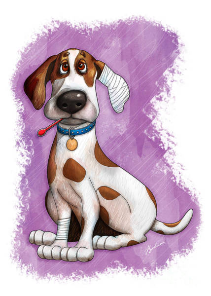 Sick Wall Art - Digital Art - Sick Puppy by Gary Bodnar