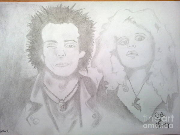 Sex Pistols Drawing - Sid And Nancy by Martin Smrzik