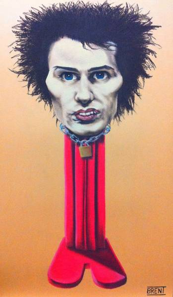 Sid Vicious Art Print by Brent Andrew Doty