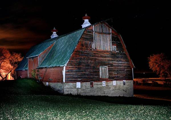 Photograph - Side Barn by David Matthews