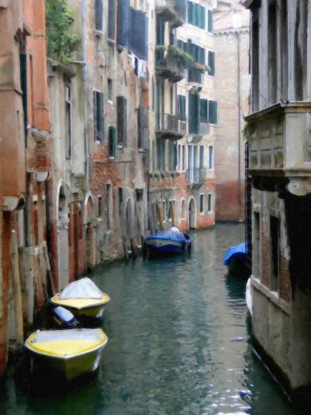 Painting - Side Canal In Venice by Dean Wittle
