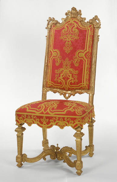 1715 Drawing - Side Chair Unknown Turin, Italy, Piemonte by Litz Collection