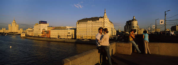 Soviet Union Photograph - Side Profile Of A Couple Romancing by Panoramic Images