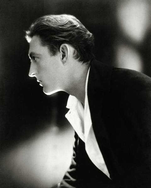 Male Photograph - John Barrymore In Profile by Adolphe De Meyer