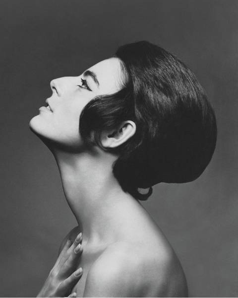 Photograph - Side Profile Of Sra. Antonella Agnelli by Karen Radkai