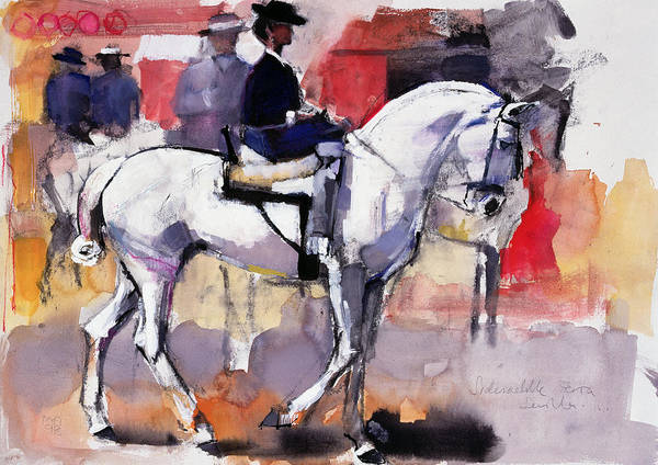 Carnival Painting - Side Saddle At The Feria De Sevilla by Mark Adlington